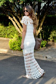 CROCHET FASHION TRENDS exclusive white long by LecrochetArt, $600.00