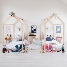 To celebrate the bond between sisters, we have found some of the prettiest shared rooms for girls. So if you've got two little daughters, you are definitely going to be inspired by these rooms. In fact we think you might even be tempted to redecorate their room.