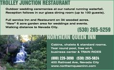 Ceremony at northern queen inn - Nevada City CA