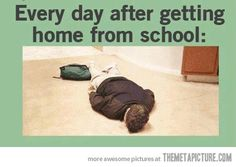 Getting home from school…