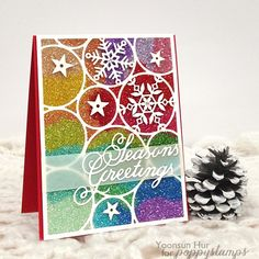 Sparkle and Shine! #Poppystamps #cardmaking #papercrafts #simonsaysstamp #snowflakes #glitter #christmas #holiday #card #diecard #핸드메이드카드 #카드 #크리스마스 #글리터