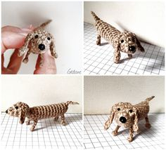 crochet your very own dachshund