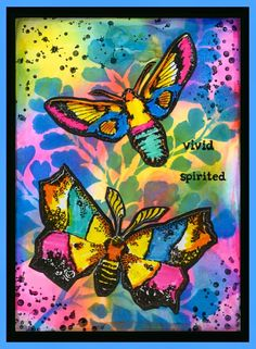anjas-artefaktotum: Card with a new Stencil from RynDesign and moths stamps