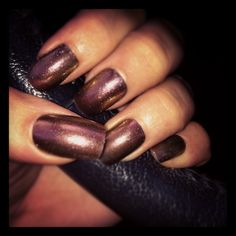 Fall nail color so pretty!