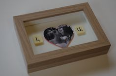 Small Personalised scrabble art frame 12x17cm inc by SpaHillCrafts, £14.00