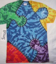Adult Small Tie-Dye Puzzle Piece tee Autism Awareness 234