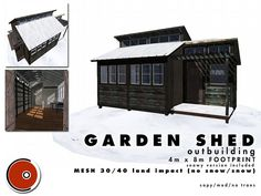Garden Shed outbuilding AD