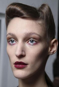 View all the photos of the beauty & make-up at the Antonio Marras autumn (fall) / winter 2014 showing at Milan fashion week. Marie Claire, Antonio Marras, Portraits, War Paint, Hair Art, Beauty Make Up, Up Hairstyles, Hair Inspo, Makeup Inspiration
