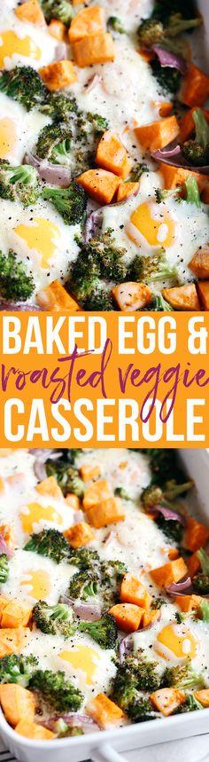 Baked Egg and Roasted Veggie Casserole