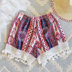 Cabana Fringe Shorts