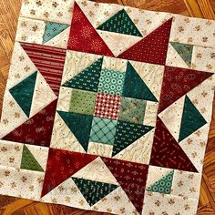 This particular patchwork quilts is truly a stunning style concept. Star Quilt Blocks, Star Quilt Patterns, Star Quilts, Pattern Blocks, Patchwork Patterns, Patchwork Quilting, Scrappy Quilts, Mini Quilts, Wool Quilts