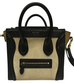 Céline Nano Calf Suede Multicolor Leather Suede Cross Body Bag 76% off  retail a2676a2dd4a99