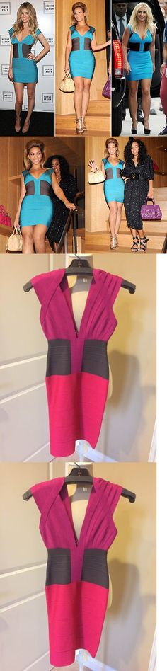 Beyonce Dresses: Herve Leger Pink Colorblock Bandage Dress Xs, Beyonce, Britney, Marissa Miller -> BUY IT NOW ONLY: $200 on eBay!