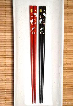 Laquered Wood Chopsticks - Yume Usagi