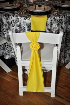 Alternative chair sash idea
