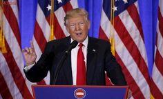 Após série de polêmicas, Trump faz primeira coletiva de imprensa do ano