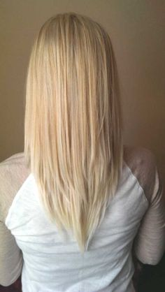 v cut hairstyle for medium length hair…