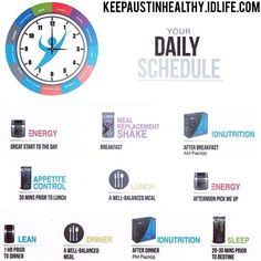 For optimal results, your IDLife day could look something like this. KeepAustinHealthy.IDLife.com