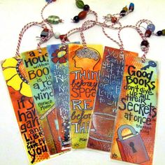 Mixed Media Bookmarks