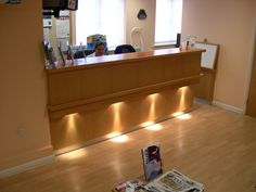 Reception desk lighting
