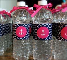 Navy/Pink Nautical Baby Shower Printable by studioMgiftdesign