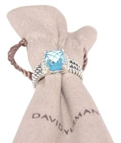 David Yurman Petite Wheaton Ring with Blue Topaz and Diamonds. Get the lowest price on David Yurman Petite Wheaton Ring with Blue Topaz and Diamonds and other fabulous designer clothing and accessories! Shop Tradesy now