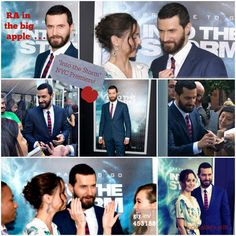 A collage from ITS NYC premiere #richard armitage #intothestorm
