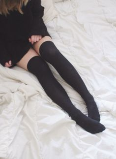 Find images and videos about fashion, clothes and brandy melville on We Heart It - the app to get lost in what you love. Thigh High Socks, Thigh Highs, Cute Lingerie, Women Lingerie, Girl Outfits, Cute Outfits, Fashion Outfits, Cute Socks, In Pantyhose