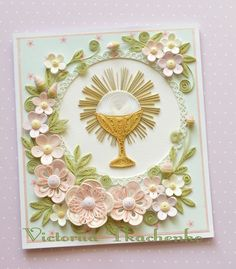 Quilling Card for the First Communion - QuillyVicky