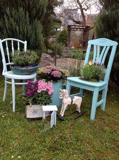Farbe im Garten Outdoor Furniture Sets, Outdoor Decor, Shabby, Home Decor, Craft, Table, Color, Homemade Home Decor, Decoration Home