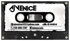 Old school cassette business card design