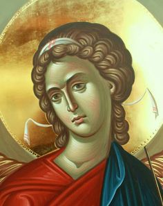 Religious Images, Religious Icons, Religious Art, Archangel Gabriel, Archangel Michael, Crafty Angels, Byzantine Icons, Orthodox Icons, Michel