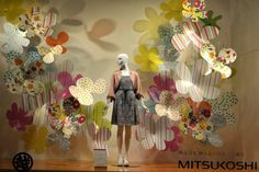 Image result for fossil paper flower window display