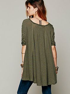 Free People We The Free 3/4 Circle In The Sand Tee