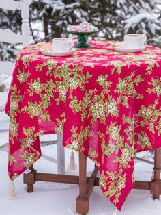 Conjunto de 4 Laura Ashley Navidad Cascanueces y Holly Almuerzo Servilletas