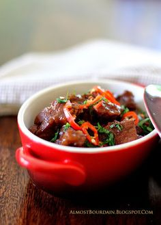 Babi Kecap (Slow Braised Pork with Ginger, Chilli & Sweet Soy Sauce) - (Adapted from Rick Stein's Far East Odyssey)