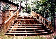 Deck Stairs Design Ideas steps form a pedestal nice idea for a small deck in a corner deck stairs pinterest pedestal decks and search Back Decks Designs Deck Stairs Design Ideas For Your Back Porch Deck Stairs Design Ideas