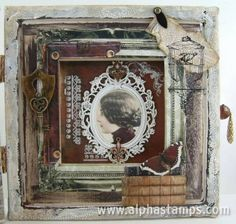 www.AlphaStamps.com Gallery - Painters Canvas Book - Right Inside View