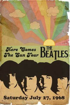 Beatles Retro Tour Poster by rsholtis on DeviantArt Bedroom Wall Collage, Photo Wall Collage, Beatles Poster, The Beatles, Beatles Art, Tour Posters, Band Posters, Movie Posters, Poster Wall