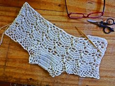 """Here's a pattern modification exercise. Given the pattern for a capelet below, make a bra and underwear set. My project, called """"Skinger..."""