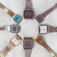 ✶ Chegaram vários modelos da linha Vintage da Casio! ✶ INSTA SHOP: link na bio @lacosdefilo   Valores no 1º comentário ↡↡ Casio Gold, Casio Watch, Jewelry Accessories, Jewellery, Jewels, Watches, Magpie, My Style, Instagram