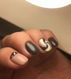 Beautiful autumn nails, Beautiful winter nails, Colorful nails, Nails ideas 2016, Nails trends 2016, Nails with stones, Original nails, ring finger nails