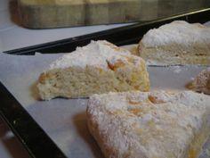 Orange scones. Now I want one.