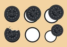 Free Oreo Vector - Download Free Vector Art, Stock Graphics & Images