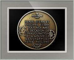 "Patek Philippe Geneve Commemorative Medal Coin (Back) // Paper: enhanced matte; Glazing: acrylic; Moulding: white, bright white poster; Top Mat: black/gray, gull; Middle Mat: white/cream, digital white; Bottom Mat: black/gray, granite // Price starts at $153 (Petite: 17.75"" x 19.75""). // Customize at http://www.imagekind.com/Patek-Philippe-Geneve-PPG_art?IMID=052985c0-deff-40d6-9371-16068992094d"