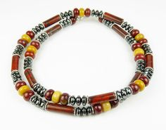 beaded necklaces | Beaded Necklace Men's Beaded Gemstone Necklace