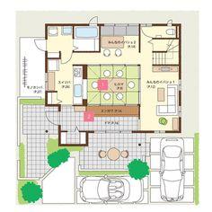 きずなスペース一階間取り図モバイル Japanese House, House Layouts, Entrance, House Plans, Floor Plans, Flooring, How To Plan, Architecture, Home Decor
