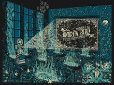 Andrew Bird @ the University of Santa Barbara by James R. Eads Gig Promo: The Best Modern Concert Posters — Cher Amis University Of Santa Barbara, The Handsome Family, Andrew Bird, Grateful Dead Music, Concert Posters, Music Posters, Retro Posters, Rock Posters, Art Posters