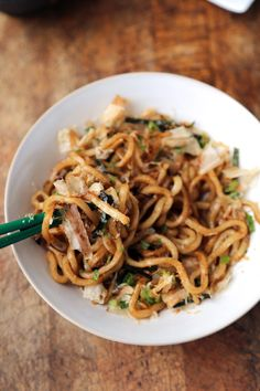 Traditional YAKI UDON w DASHI BUTTER (see recipe for DIY Dashi) - so simple but so flavorful, ready in 15 minutes.  (Huff Post)