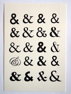 Ampersand Letterpress A4 Print by SORT